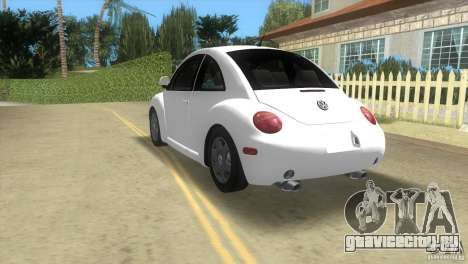 VW New Beetle для GTA Vice City вид сзади