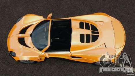 Hennessey Venom GT Spyder для GTA 4 вид справа