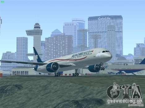 Boeing 787-8 Dreamliner AeroMexico для GTA San Andreas вид снизу