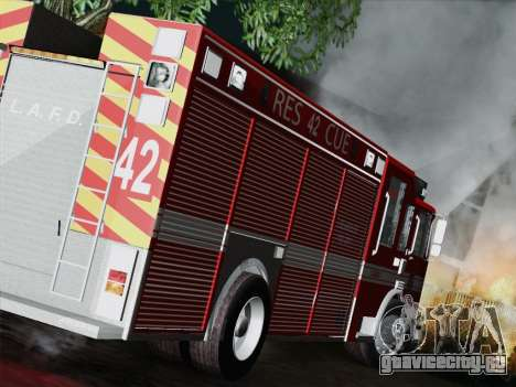 Pierce Contender LAFD Rescue 42 для GTA San Andreas вид справа