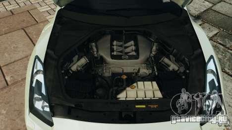 Nissan GT-R 2012 Black Edition для GTA 4 вид сверху