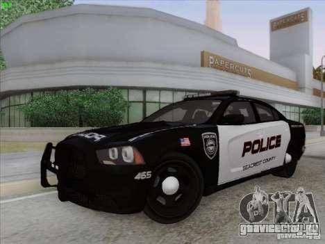 Dodge Charger 2012 Police для GTA San Andreas вид изнутри