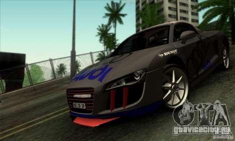 Audi R8 Spyder Tunable для GTA San Andreas вид изнутри