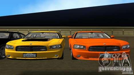Dodge Charger RT для GTA Vice City вид изнутри