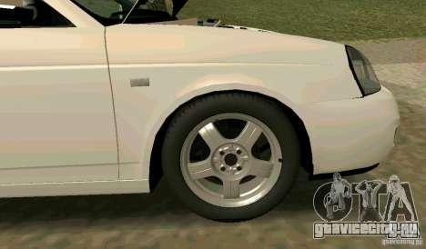 Ваз 2170 для GTA San Andreas вид снизу