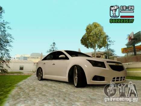 Chevrolet Cruze для GTA San Andreas вид сзади слева