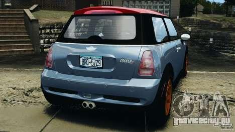 Mini Cooper S v1.3 для GTA 4 вид сзади слева