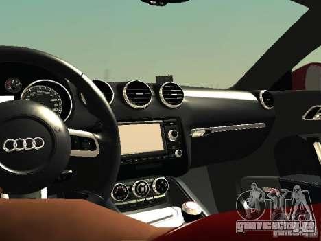 Audi TT-RS Coupe 2011 v.2.0 для GTA San Andreas вид изнутри