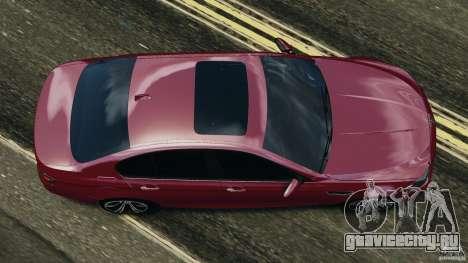 BMW M5 2012 для GTA 4 вид справа