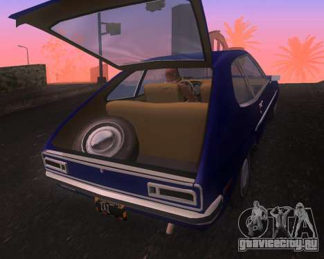 Ford Pinto 1973 Final для GTA San Andreas вид справа