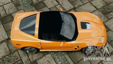 Chevrolet Corvette ZR1 для GTA 4 вид сбоку