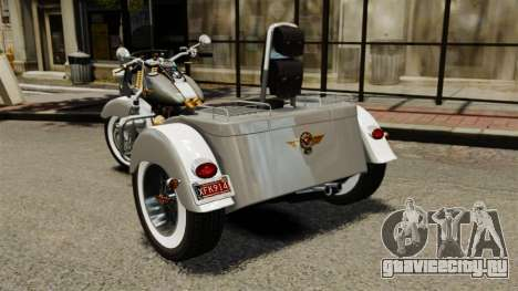 Harley-Davidson Trike для GTA 4 вид сзади слева