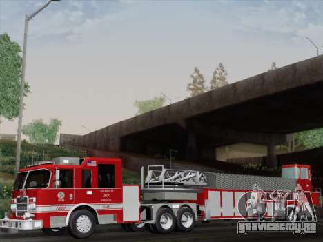Pierce Arrow XT LAFD Tiller Ladder Truck 10 для GTA San Andreas вид сзади