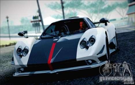 Pagani Zonda Cinque Roadster 2009 для GTA San Andreas вид сзади слева
