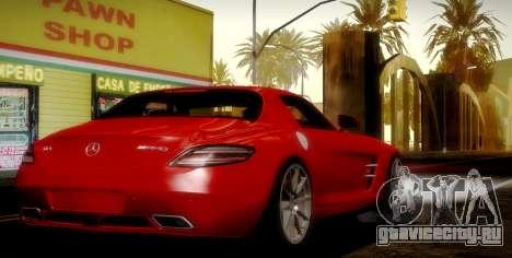 Mercedes-Benz SLS AMG 2010 для GTA San Andreas вид сверху