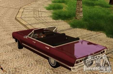 Savanna Detroit 1965 для GTA San Andreas вид сзади