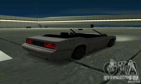 Buffalo Cabrio для GTA San Andreas вид сзади слева