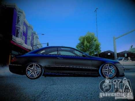 Mercedes-Benz CLK 55 AMG Coupe для GTA San Andreas вид изнутри