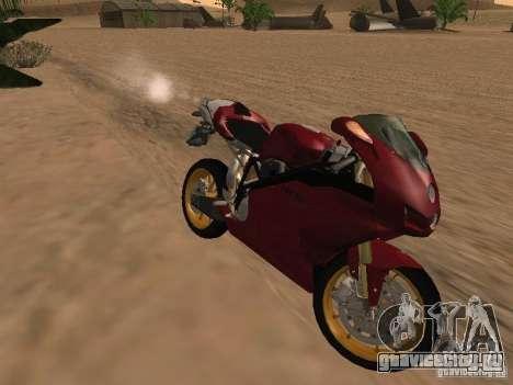 Ducati 999R для GTA San Andreas вид изнутри