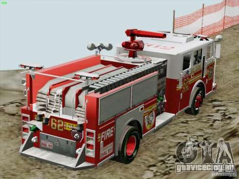 Seagrave Marauder II Engine 62 SFFD для GTA San Andreas вид сверху
