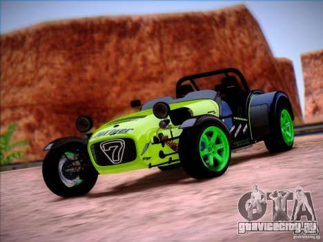 Caterham Superlight R500 для GTA San Andreas вид слева