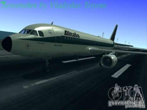 Airbus A320-214 Alitalia v.1.0 для GTA San Andreas колёса