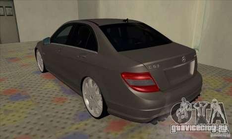 Mercedes-Benz C63 Dub для GTA San Andreas вид справа