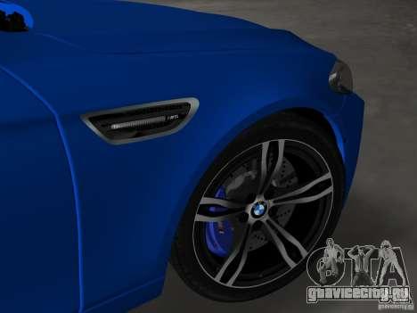 BMW M5 F10 2012 для GTA Vice City вид сверху