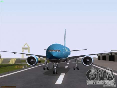 Boeing 777-2Q8ER Vietnam Airlines для GTA San Andreas вид сзади