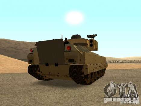 M2A3 Брэдли для GTA San Andreas вид сзади слева