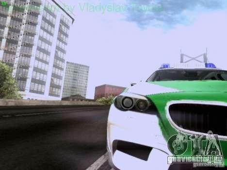BMW M5 Touring Polizei для GTA San Andreas вид изнутри
