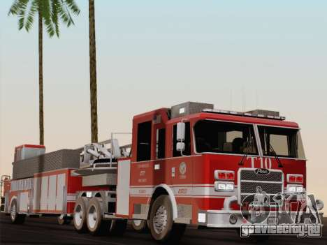 Pierce Arrow XT LAFD Tiller Ladder Truck 10 для GTA San Andreas вид снизу