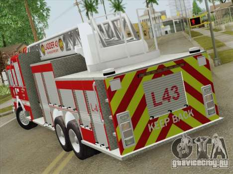 Pierce Arrow LAFD Ladder 43 для GTA San Andreas вид справа