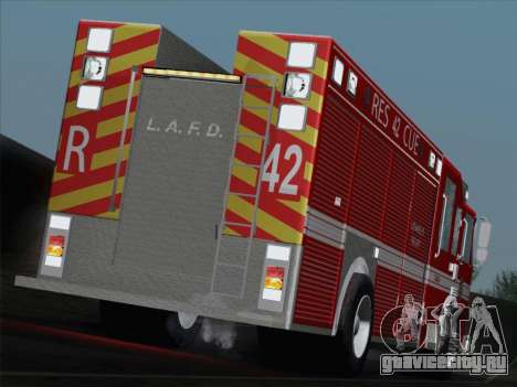Pierce Contender LAFD Rescue 42 для GTA San Andreas салон