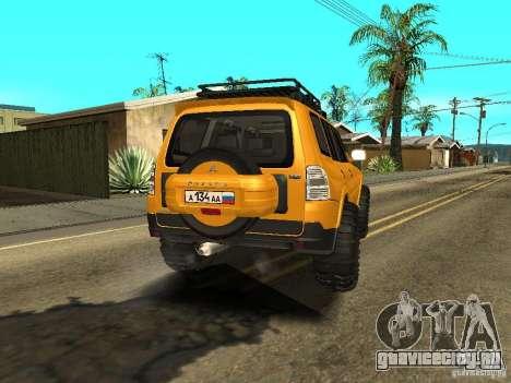 Mitsubishi Pajero OffRoad v2 для GTA San Andreas вид сзади слева