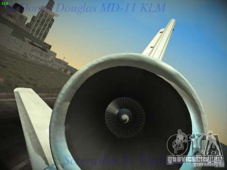McDonnell Douglas MD-11 KLM Royal Dutch Airlines для GTA San Andreas вид снизу