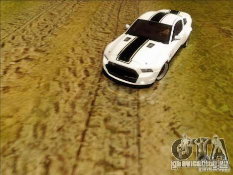 Ford Shelby GT500 SuperSnake NFS The Run Edition для GTA San Andreas вид слева