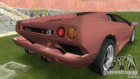 Lamborghini Diablo VTTT Black Revel для GTA Vice City