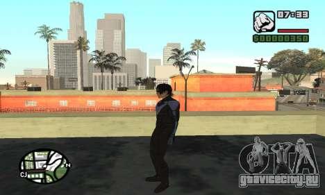 Nightwing skin для GTA San Andreas пятый скриншот