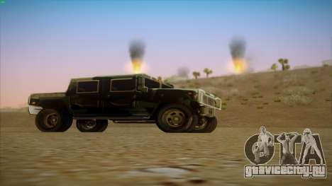 HD Patriot для GTA San Andreas вид справа