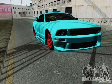 Ford Mustang GT Lowlife для GTA San Andreas вид изнутри