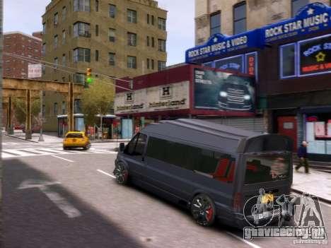 Ford Transit Sport Edition RV 2013 для GTA 4 вид сверху