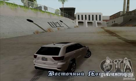Jeep Grand Cherokee SRT-8 2013 для GTA San Andreas вид справа