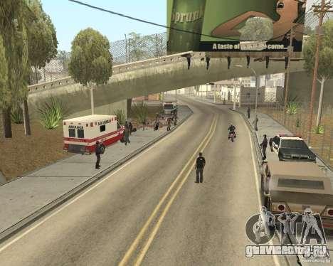 Место преступления (Crime scene) для GTA San Andreas второй скриншот