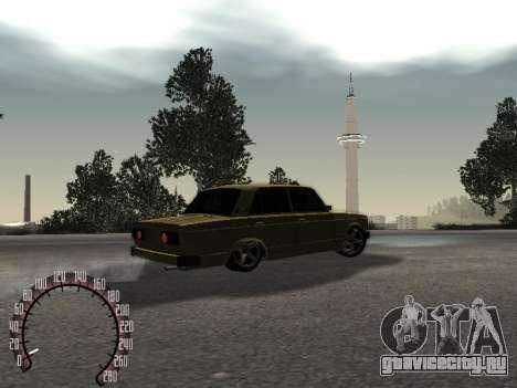 ВАЗ 2105 Gold для GTA San Andreas вид сзади слева