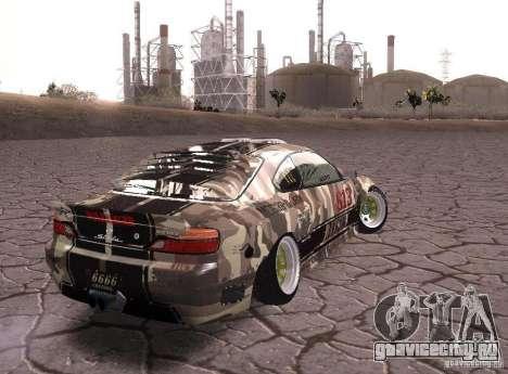 Nissan Silvia S15 Volklinger для GTA San Andreas вид слева