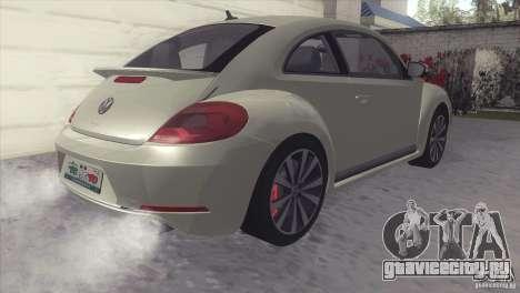 Volkswagen Beetle Turbo 2012 для GTA San Andreas вид сзади слева