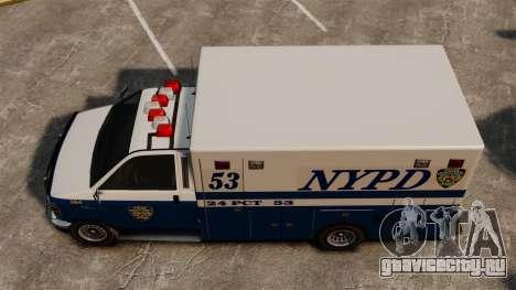 Новый фургон полиции для GTA 4 вид справа