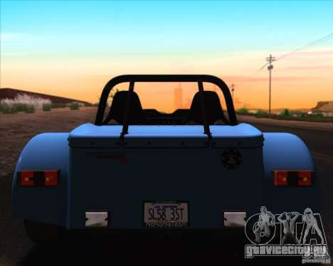 Caterham Superlight R500 для GTA San Andreas салон