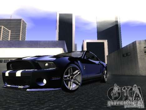 Ford Mustang Shelby GT500 для GTA San Andreas вид сзади слева